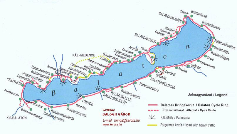 kerékpáros térkép balaton Balaton Menüajánlat kerékpáros térkép balaton